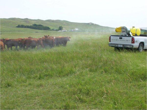 Mist blower sprayer.  Photo courtesy of Dave Boxler.