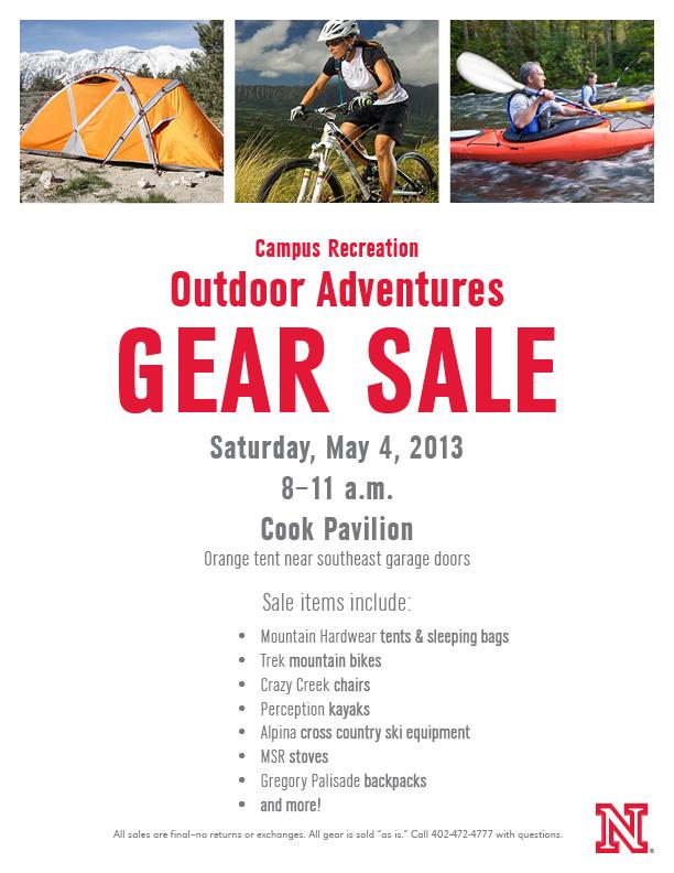 Outdoor Adventures Gear Sale