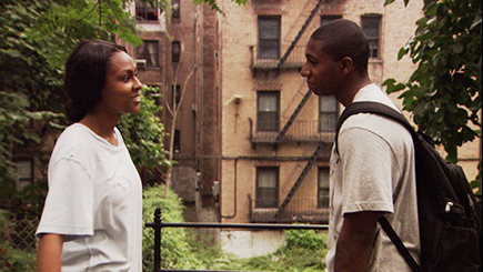 "Tashiana Washington and Ty Hickson star in ""Gimme The Loot."""