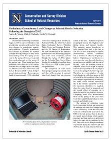 The Conservation and Survey Division released a special report on current groundwater levels in response to the 2012 drought.