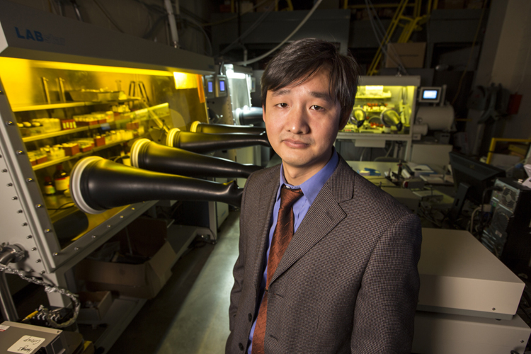 Jinsong Huang, assistant professor of mechanical and materials engineering (pictured), along with Fawen Guo and Zhengguo Xiao, reported the development of an organic photodetector that has the ability to function at low light levels.