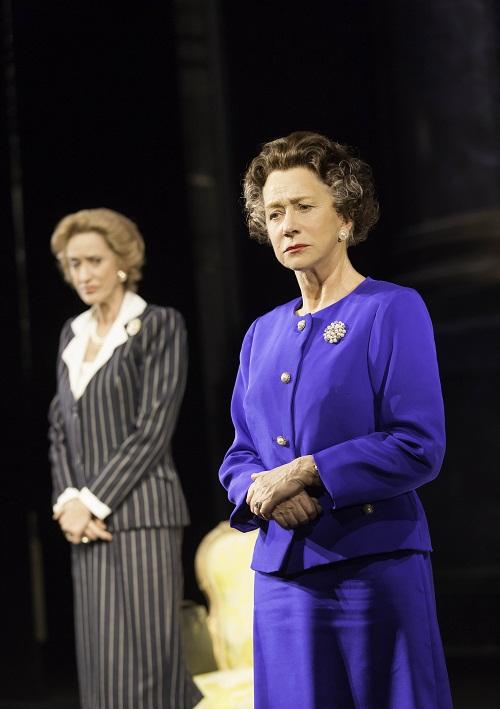 Margaret Thatcher (Haydn Gwynne) and Queen Elizabeth II (Helen Mirren).