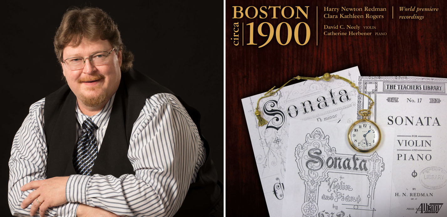 "David Neely and his new CD ""Boston Circa 1900."""