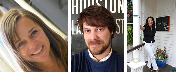 New graphic design faculty (left to right):  Stacy Asher, Aaron Sutherlen and Colleen Syron.