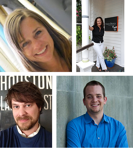 Clockwise from upper left:  Stacy Asher, Colleen Syron, Dave Hall and Aaron Sutherlen.