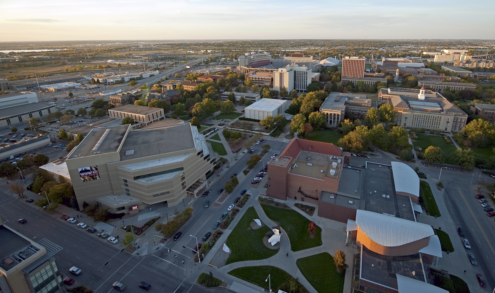Pictured is an aerial photo of City Campus shot in 2010. A helicopter will record HD video of UNL's City and East campuses on July 6.