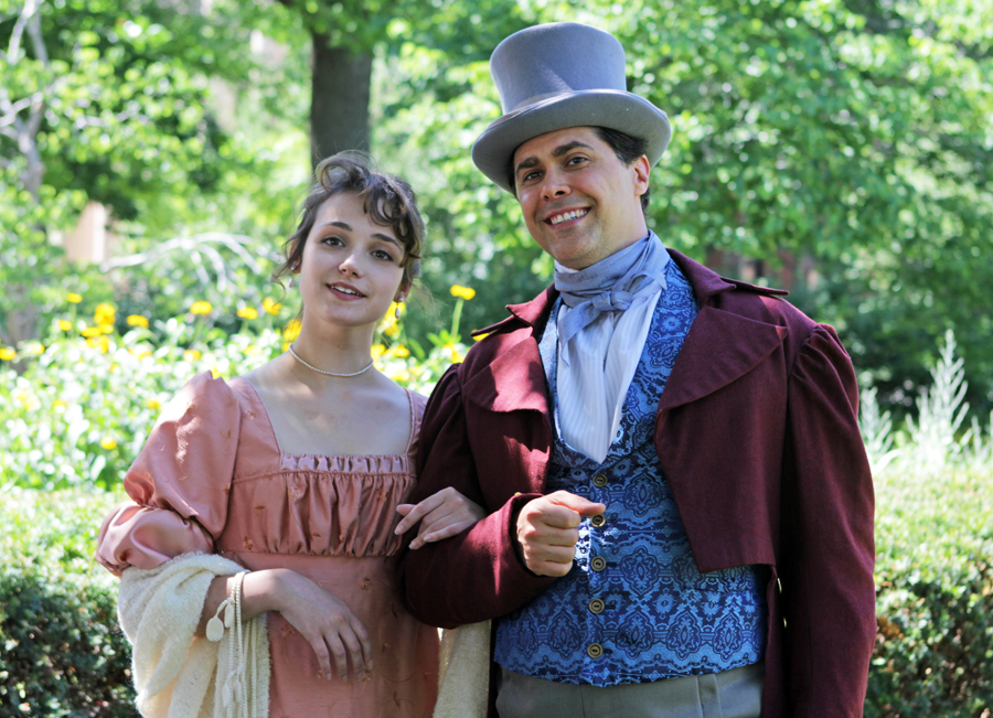 """The Nebraska Repertory Theatre opens the summer season with """"Emma"""" on July 11. The production stars (from left) Jessie Tidball as Emma and Sean Schmeits as Mr. Knightly. (Doug Smith, Courtesy photo)"""