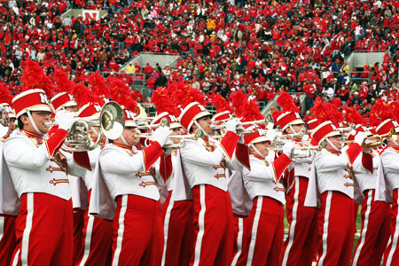 The Cornhusker Marching Band presents their annual exhibition concert on Friday, Aug. 23 at 7 p.m. in Memorial Stadium. Free admission.