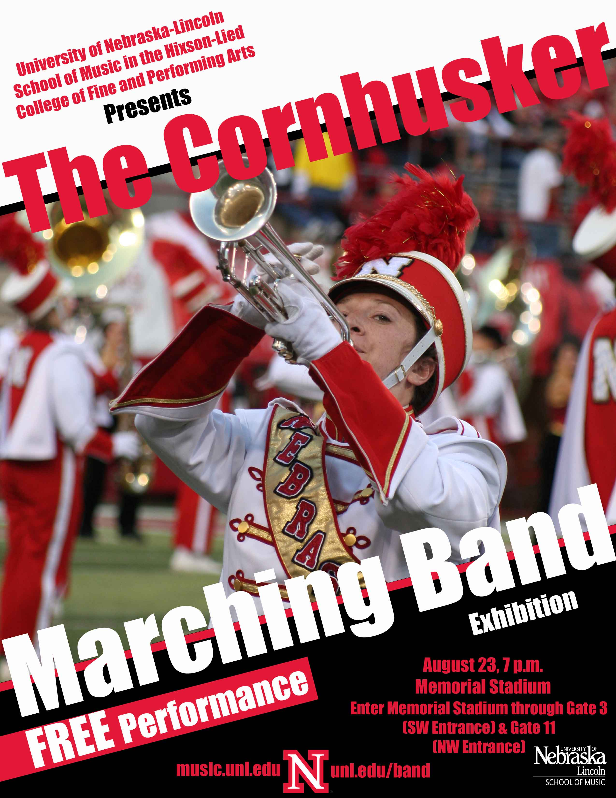The Cornhusker Marching Band Exhibition