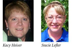 Kacy Heiser and Stacie Lefler