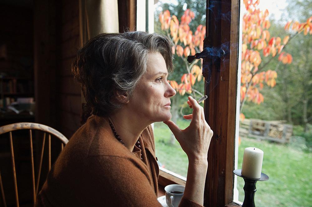 "Barbara Sukowa in ""Hannah Arendt."""