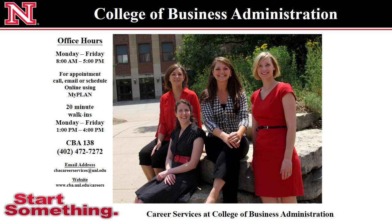 Stop by Career Services at CBA (138) today!