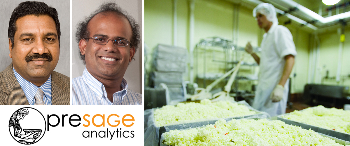 UNL faculty (from left) Harshavardhan Thippareddi and Jeyam Subbiah have teamed with a local entrepreneur to create a new startup company, Presage Analytics.