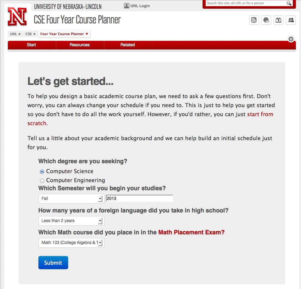 4 year college planner