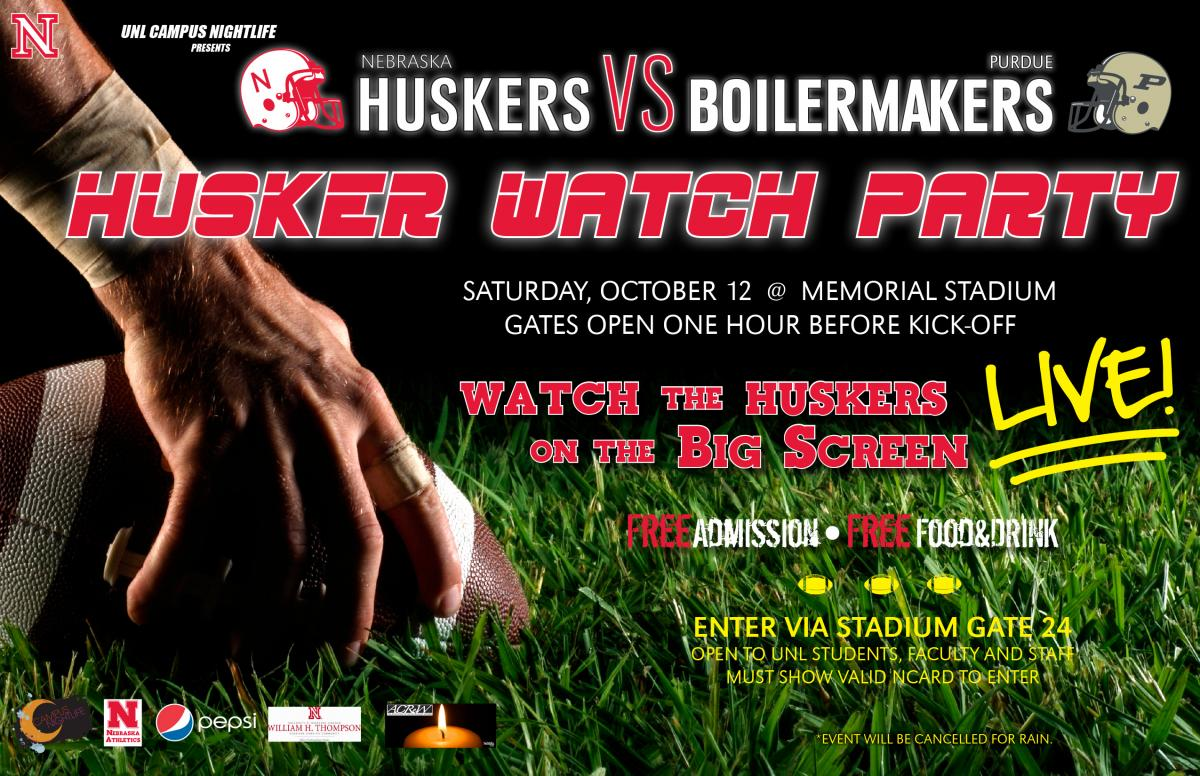 Husker Watch Party Flyer
