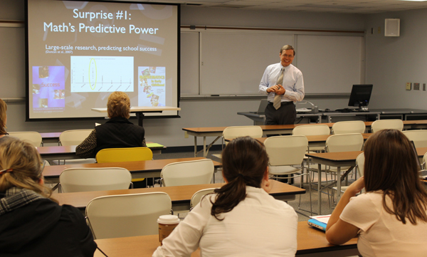 Doug Clements speaks at UNL on Oct. 7