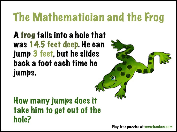 Can you help the frog?