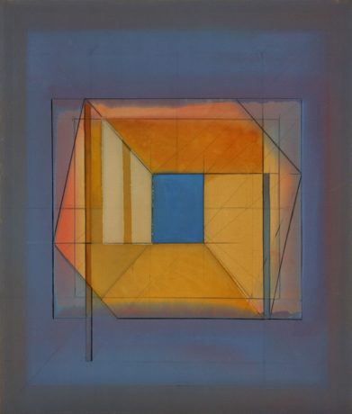 "James Eisentrager, ""Arbee #3,"" polymer on canvas, 60"" x 51"", 1981."