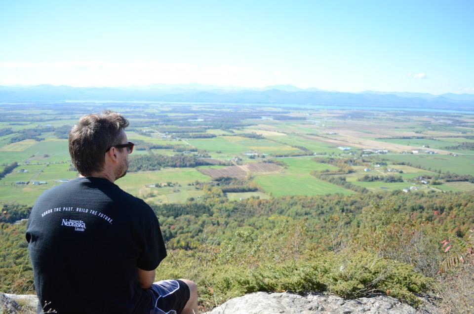 Tyler Goeschel on Snake Mountain in Addison, Vermont. (Courtesy photo)