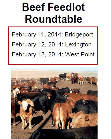 The Beef Feedlot Roundtable is sponsored by UNL Extension, ISU Extension, and the Nebraska Beef Council.