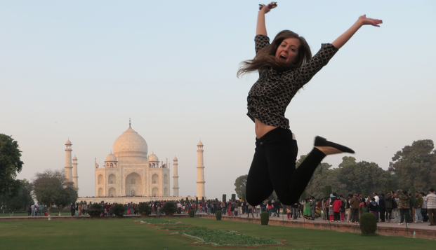 UNL student Jessica Meis exploring India during a UNL faculty-led education abroad program