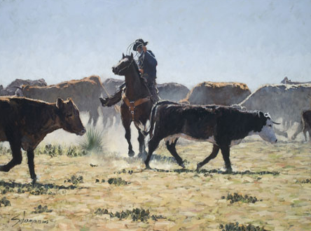 """""""Working in a Crowd"""" by Nathan Solano earned the 2009 APA Best of Show award."""