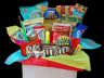 Gift basket with assorted treats