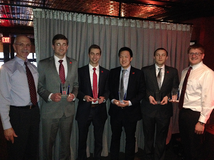 CBA students finished second in the recent CFA Competition. Pictured, from left to right, are Richard DeFusco, finance professor, Dylan Aufdenkamp, Chris Spanel, Ryan Kim, Cole Petersen and Owen Kobes.