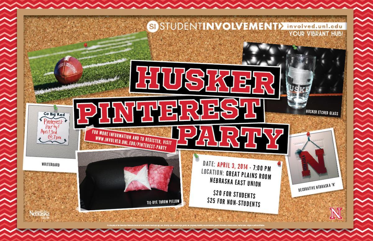 Husker Pinterest Party Poster