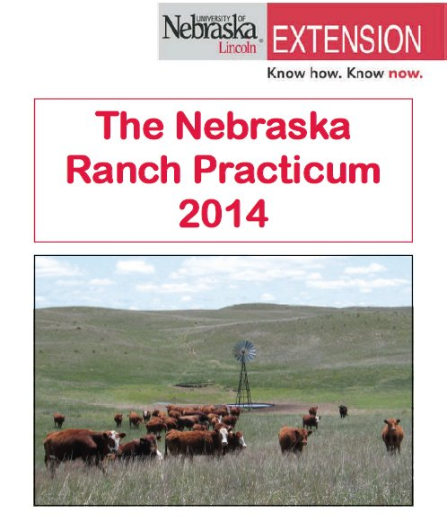 Applications for the 2014 Nebraska Ranch Practicum are due May 2.