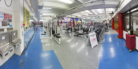 City Rec Center's current Strength Training & Conditioning Room (photo: Craig Chandler/University Communication)