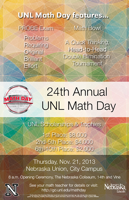 2013 Math Day Poster