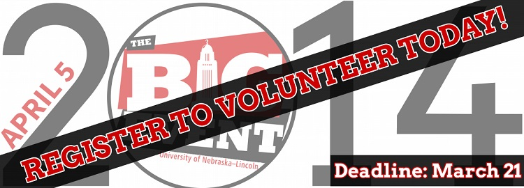 """The Big Event,"" UNL's annual day of volunteerism and community service, is April 5. Sign up for the SNR team to give back to the greater Lincoln community!"