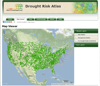 The new Drought Risk Atlas lets users access drought-related data and visualizations for more than 3,000 climate stations across the country.
