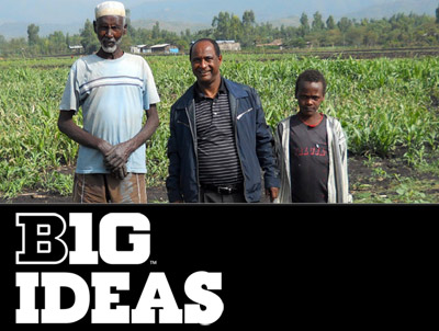 Tsegaye Tadesse, center, is leading new drought research project in Africa.