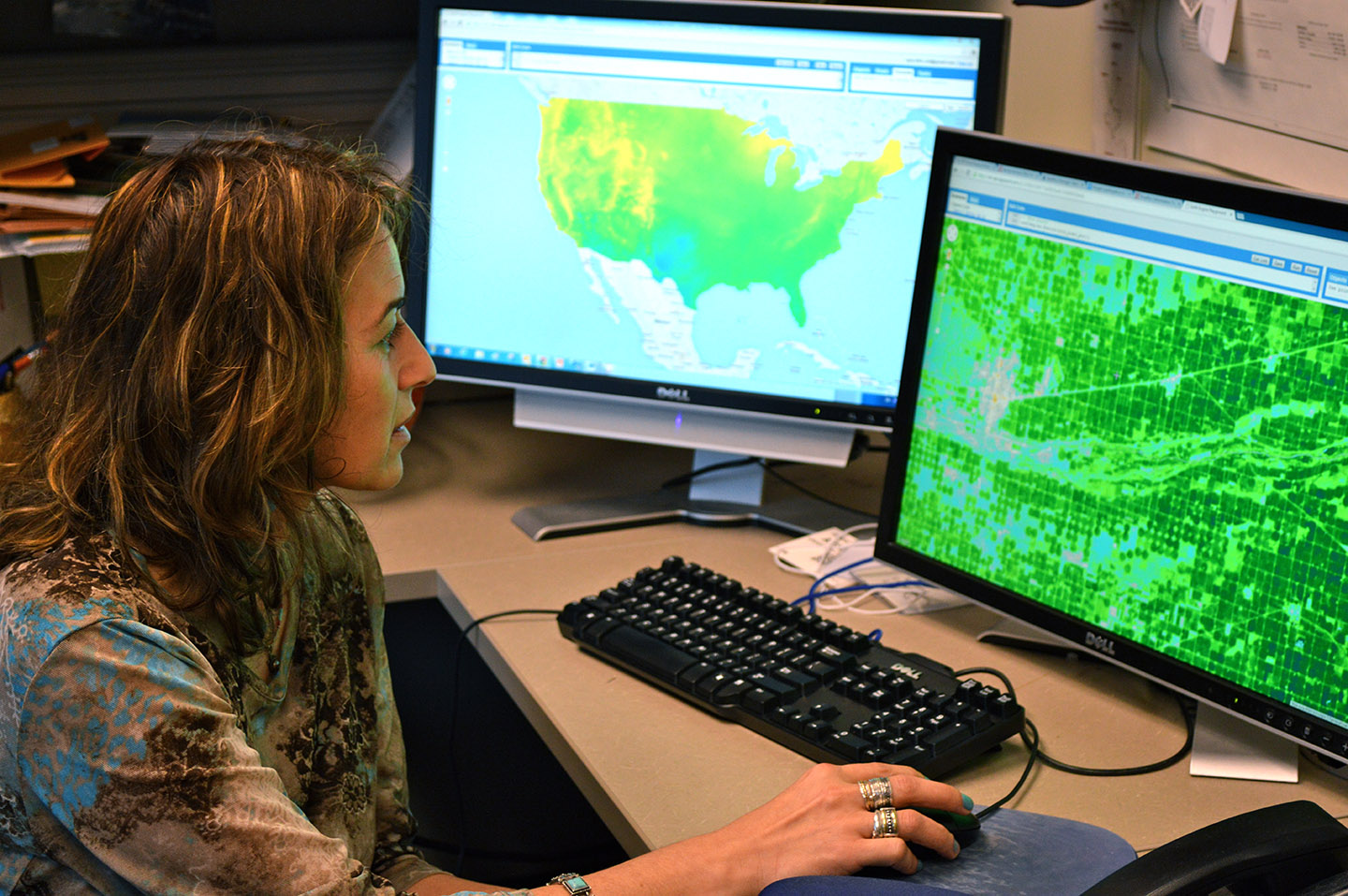 The new U.S. Climate Data Initiative includes a partnership involving UNL, Google, the University of Idaho and the Desert Research Institute. Ayse Kilic, associate professor, will use the added resources to augment water information