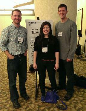 Brent Larson, Brianna Pinquoch and Pat Janike at AMTE