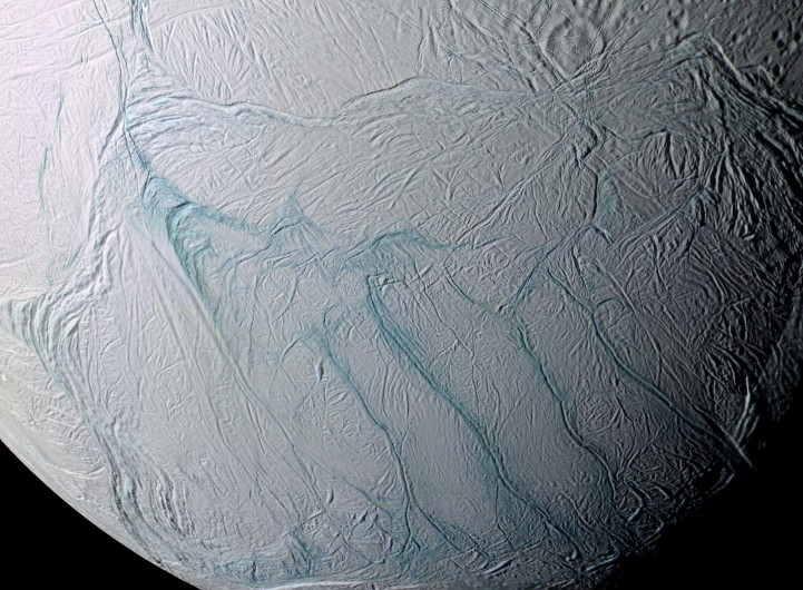Image: http://apod.nasa.gov/apod/image/0603/enceladus_cassini_PIA07800c16.jpg