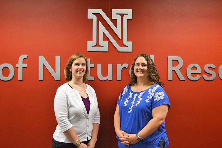 Amanda Bergeron-Bauer (right), SNR recruiter, and Karen Jensen, SNR alumni coordinator, are offering a professional development seminar course for fall 2014.