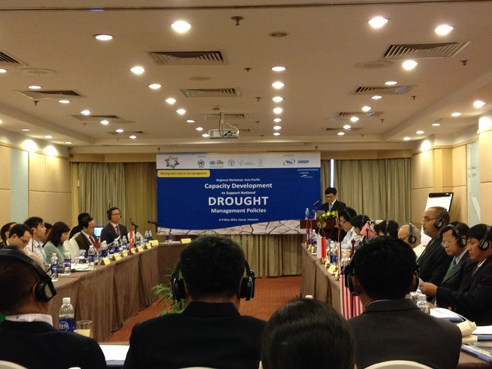 Don Wilhite, climatologist and professor, presented the keynote address and facilitated a third regional capacity building workshop on national drought policy in Hanoi, Vietnam from May 6-9. (Photo courtesy Don Wilhite)