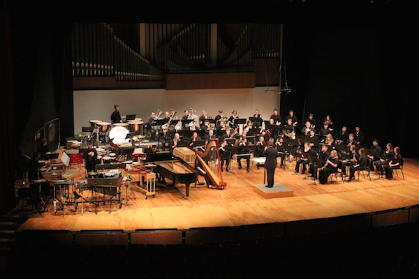 Wind ensemble is one of the many ensembles at the Glenn Korff School of Music.
