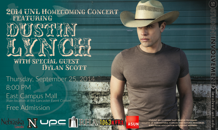 2014 UNL Homecoming Concert Poster