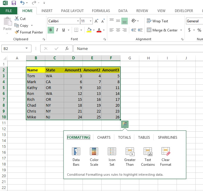 Tips, Tricks & Other Helpful Hints: Quick Analysis with Excel ...