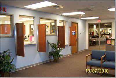 The lobby of the renovated University Health Center pharmacy.