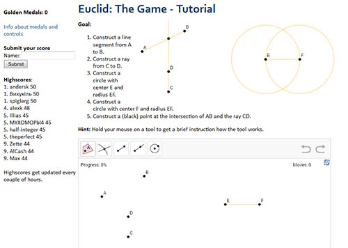 Euclid the Game