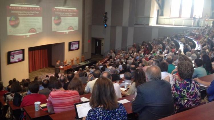 September's Heuermann Lecture was in Nebraska Innovation Campus' Auditorium at 2021 Transformation Drive.