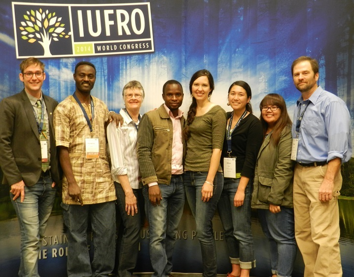 Humphrey Kalibo (second from left) at the 24th International Union of Forest Research Organizations (IUFRO) World Congress, which took place in October in Salt Lake City. (Courtesy photo)