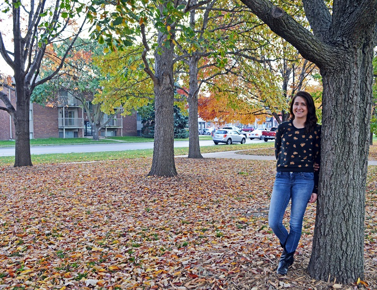Jenna Schweiss, a sophomore fisheries and wildlife major from South Dakota, is the first recipient of the newly established William L. Baxter Scholarship. (Mekita Rivas   Natural Resources)