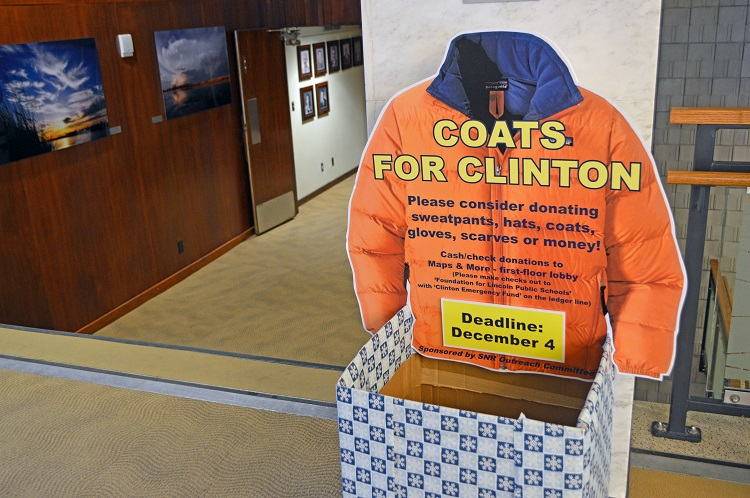 "Now in its seventh year, SNR's annual ""Coats for Clinton"" drive continues to provide coats and winter gear to the students of Clinton Elementary, located at 1520 North 29th Street – just a few blocks away from SNR's home building, Hardin Hall."