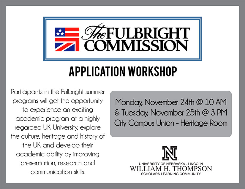 US-UK Summer Institute Application Workshops